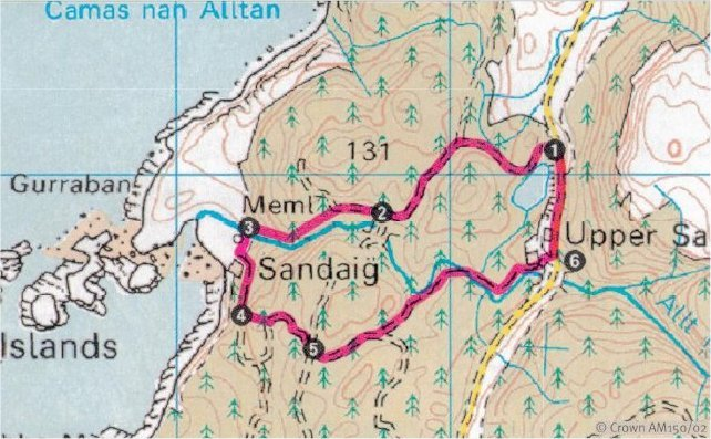 Sandaig walk grid reference NG 784 151