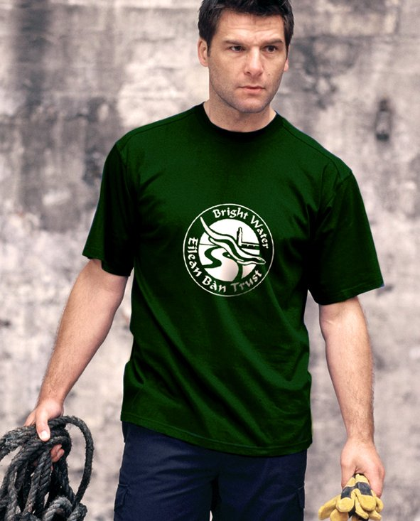 Dark Green Eilean Ban Tshirt - click to see larger image