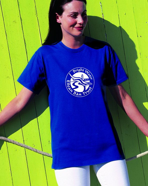 Dark Blue Eilean Ban Tshirt - click to see larger image