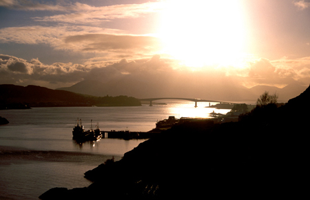 Photo of Skye Bridge & Eilean Bàn by Peter Clarke